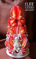 Ангельская свеча, огненной раскраски, на подарок