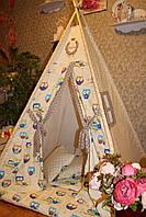 """Детский игровой домик, вигвам, палатка, шатер, шалаш """"Совята на веточке"""", фото 1"""