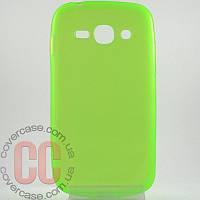 Чехол-накладка TPU для Samsung Galaxy Ace 3 duos s7272 (салатовый)