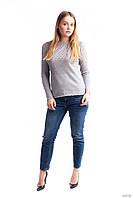 Женская вязанная кофта с рукавом реглан