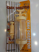 Кулинарный шприц большой с насадками