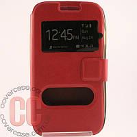 Чехол-книжка с окошками для Samsung Galaxy Ace 4 duos G313 (розовый)