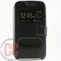 Чехол-книжка с окошками для Samsung Galaxy Ace 4 duos G313 (черный)