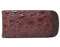 Зажим для купюр из кожи крокодила (NTAM 01 Brown), фото 1