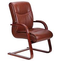 Кресло Монтана CF Кожа Люкс комбинированная Коричневый (619-D+PVC).