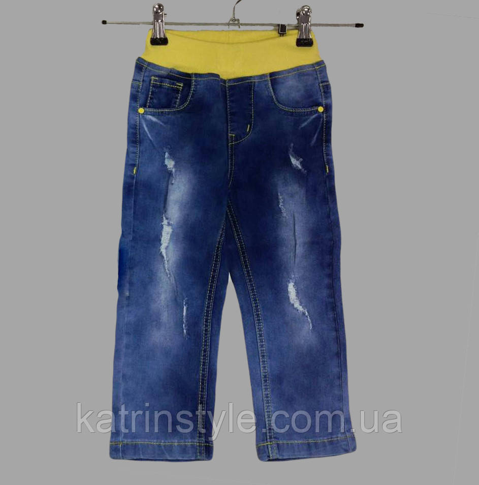 Брюки джинсовые на мальчика