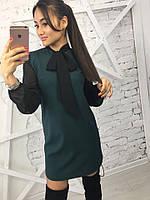 Женское необычное платье с бантиком (3 цвета)