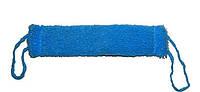 Мочалка банная Люкс синяя с ручками