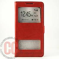 Чехол-книжка с окошками для Lenovo A536 (красный)