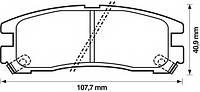 Тормозные колодки MITSUBISHI SIGMA (F16A) 12/1990-07/1996 дисков. зад., Q-TOP (Испания) QE0403E