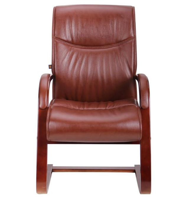Кресло Монтана CF, кожа коричневая (619-D+PVC) фото 2