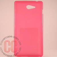 Чехол-накладка TPU для Sony M2 D2303 (розовый)