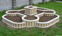 Бордюри для газонів та клумб на дачній ділянці