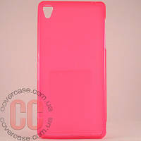 Чехол-накладка TPU для Sony Z3 (розовый)