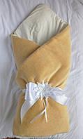 """Конверт-одеяло """"Велюр на трикотаже Мишки"""", коричневый"""