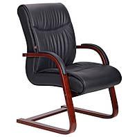Кресло Монтана CF Кожа Люкс комбинированная Чёрный (619-D+PVC).