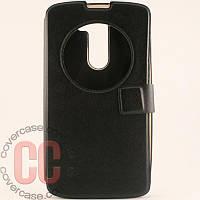 Чехол-книжка с окошками для LG L Bello D335 (черный)
