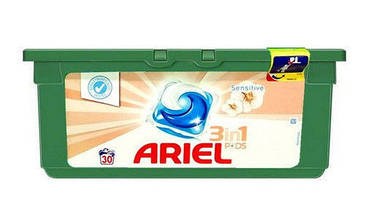 Капсулы для стирки Ariel 3in1 Sensitive - 28 шт.