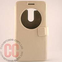 Чехол-книжка с окошками для LG G3 mini 3Gs (белый)