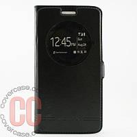 Чехол-книжка с окошками для LG G3 mini 3Gs (черный)