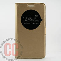 Чехол-книжка с окошками для LG G3 mini 3Gs (золотой)