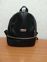 Модный рюкзак из эко-кожи, черного цвета