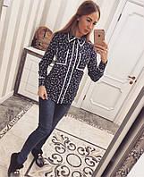 Модная женская рубашка креп-шифон