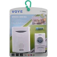 Дверной звонок беспроводной VOYE V006A: 50/60 Гц, радиус 100 м, 38 мелодий, 2хАА/1х12В батарейки