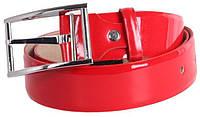 Яркий женский ремень под джинсы Dori red100 ДхШ: 120х4 см, красный