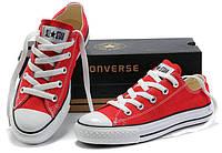 Кеды Converse ALL STAR низкие Тренд 2017! Кеды, Резина, Унисекс, Красный