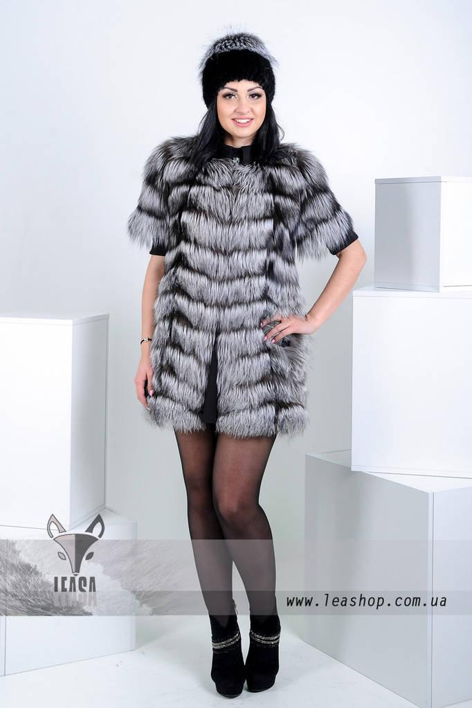Женские меховые шапки из чернобурки