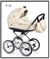 Универсальная коляска 2 в 1 Roan Emma Chrome E-18 хром бежевая кожа