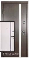 Двери входные Steelguard АV-1 (Венге темный/ Белый шелк)