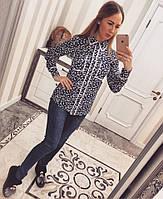 Стильная женская рубашка креп-шифон