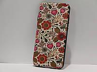 Чехол для iPhone 6/6S тонкий пластик цветы рельеф