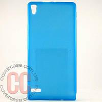 Чехол-накладка TPU для Huawei P6 (голубой)