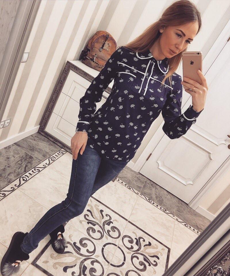 Женская рубашка креп-шифон