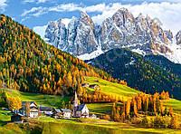 "Пазлы 2000 эл.. Castorland ""Church of St. Magdalena, Dolomites"" (14)"