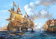 "Пазлы 2000 эл.. Castorland ""Copy of ""Battle of Porto Bello"", 1739"" (14)"