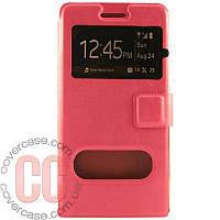 Чехол-книжка с окошками для Huawei G6 (розовый)