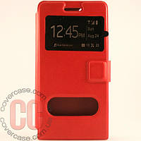 Чехол-книжка с окошками для Huawei G6 (красный)