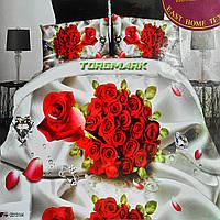 """Двуспальный комплект постельного белья Lux Comfort - прост.190 х 230, - под. 200 х 220 """"Роза дорогая"""""""