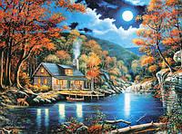 """Пазлы 2000 эл.. Castorland """"Gabin by the lake"""" (14)"""