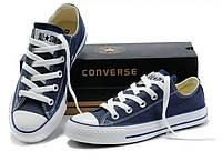 Кеды Converse ALL STAR низкие Тренд 2017! Кеды, Резина, Унисекс, Синий