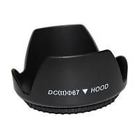 Бленда для объектива 67мм, лепестковая Canon Nikon