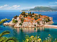 "Пазлы 2000 эл.. Castorland ""Sveti Stefan, Montenegro"" (14)"