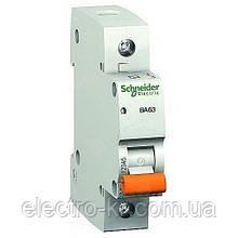 Автоматический выключатель Schneider Electric «Домовой» ВА63 1П 25A C