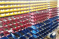 Стеллаж АТМ1 Н1800 мм с 36 шт цветными ящиками №703, 36 шт цветных ящиков №702, 24 шт Цветн. ящиков №701 + тр.