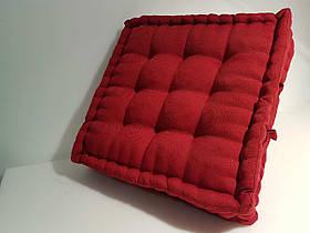 Объемная квадратная подушка с втяжками