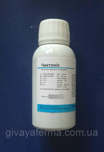 Чиктоник (Invesa Испания) 10 мл, добавка витаминная, комплекс витамин и аминокислот для с/х животных и птиц, фото 2